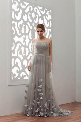 LIA | A-Line Strapless Floor Length Tulle Bridesmaid Dresses_1