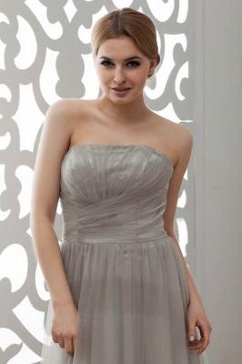 LIA | A-Line Strapless Floor Length Tulle Bridesmaid Dresses_7
