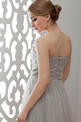 LIA | A-Line Strapless Floor Length Tulle Bridesmaid Dresses_6