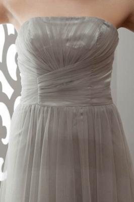 LIA | A-Line Strapless Floor Length Tulle Bridesmaid Dresses_4