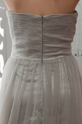 LIA | A-Line Strapless Floor Length Tulle Bridesmaid Dresses_10