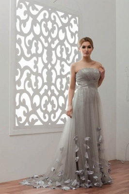 LIA | A-Line Strapless Floor Length Tulle Bridesmaid Dresses_9