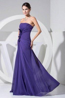 LEILANI | A-line Strapless Floor Length Chiffon Bridesmaid Dresses