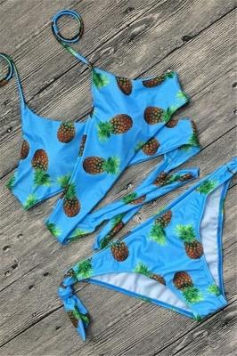 Sexy Bandage Coloeful Deep-V Neck Bikini Set_8