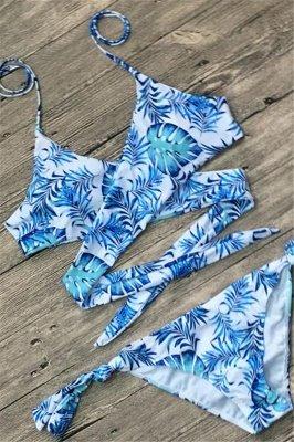 Sexy Bandage Coloeful Deep-V Neck Bikini Set_6