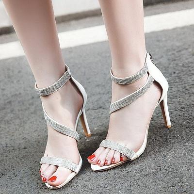 Rhinestone Cocktail Sparkling Glitter Zipper Stiletto Sandals_12