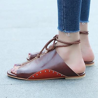 Braided Strap Daily Flat Heel Sandals_11