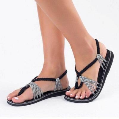 Summer Braided Daily Flip-flops Sandals_4