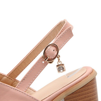 Buckle Hollow-out Flip-flops Chunky Sandal_7