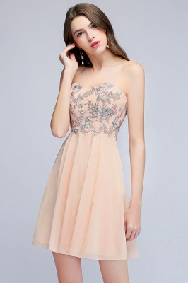 MADELINE | A-line Short Strapless Sweetheart Beading Appliques Homecoming Dresses_7