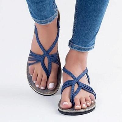 Summer Braided Daily Flip-flops Sandals_7