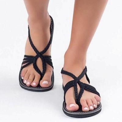 Summer Braided Daily Flip-flops Sandals_3
