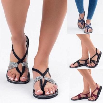 Summer Braided Daily Flip-flops Sandals_15