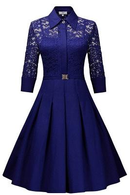 Women's V-Line Dress Medium Bright Blue