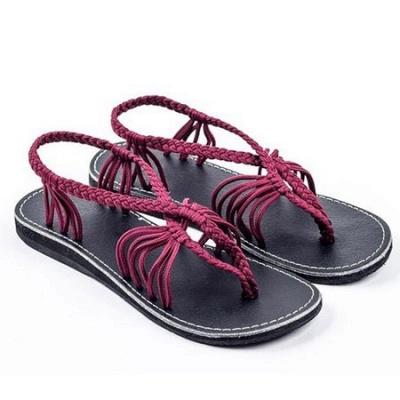 Summer Braided Daily Flip-flops Sandals_12