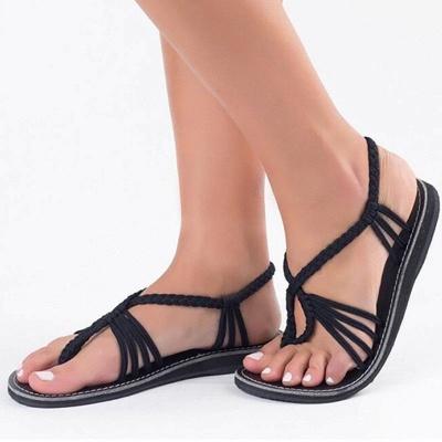 Summer Braided Daily Flip-flops Sandals_9
