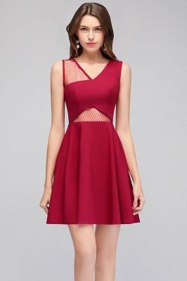 MANDY   A-line Sleeveless Short V-neck Tulle Neckline Homecoming Dresses_5