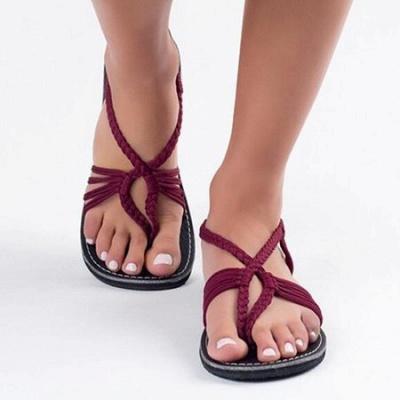 Summer Braided Daily Flip-flops Sandals_17