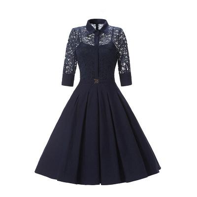 Women's V-Line Dress Medium Bright Blue_2