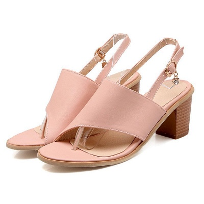Buckle Hollow-out Flip-flops Chunky Sandal_10