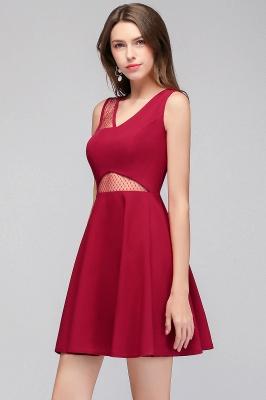MANDY   A-line Sleeveless Short V-neck Tulle Neckline Homecoming Dresses_9