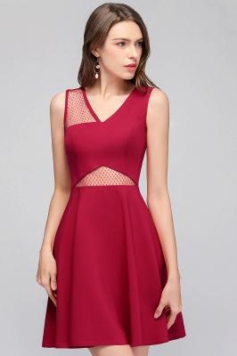 MANDY   A-line Sleeveless Short V-neck Tulle Neckline Homecoming Dresses_8