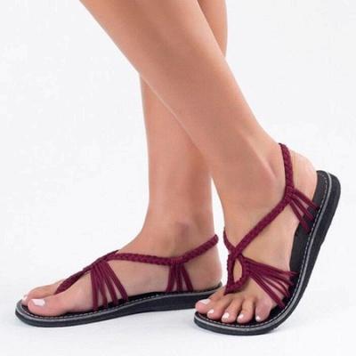 Summer Braided Daily Flip-flops Sandals_16