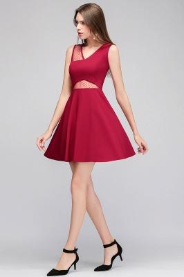 MANDY   A-line Sleeveless Short V-neck Tulle Neckline Homecoming Dresses_6