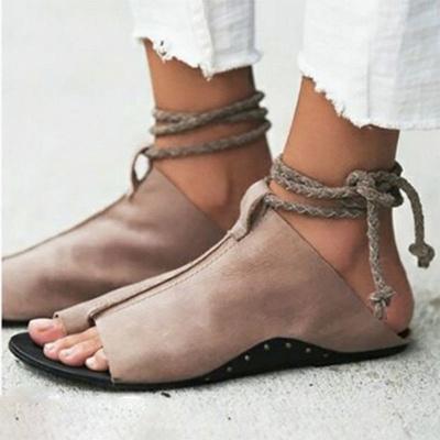 Braided Strap Daily Flat Heel Sandals_2