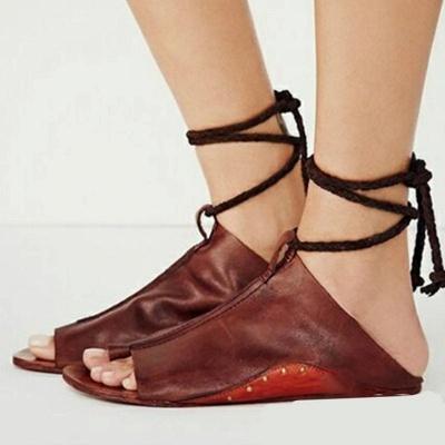 Braided Strap Daily Flat Heel Sandals_1