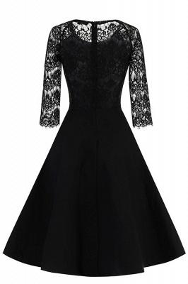New Women Round Neck Vintage Lace Dress_1