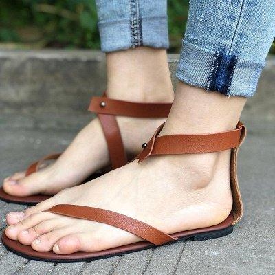 Sandals Flip Flops Ankle Wrap Shoes_1