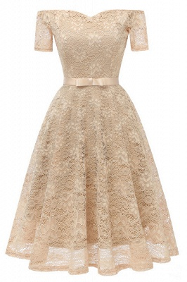 New A-line Women Lace Vintage Dress