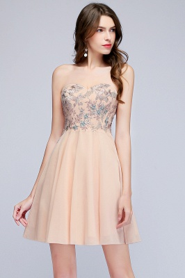 MADELINE | A-line Short Strapless Sweetheart Beading Appliques Homecoming Dresses_6