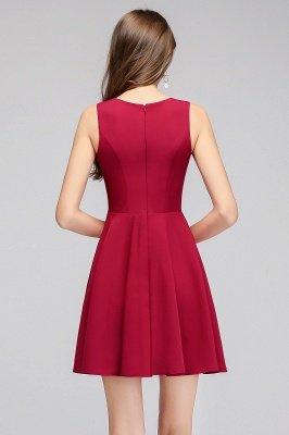 MANDY   A-line Sleeveless Short V-neck Tulle Neckline Homecoming Dresses_3