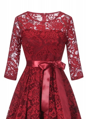 Women's Half Sleeves Lace Short Prom Formal Casual Swing Party Cocktail Dresses