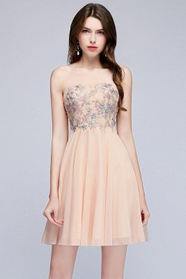 MADELINE | A-line Short Strapless Sweetheart Beading Appliques Homecoming Dresses_5