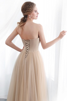 NATHALIE | A-line Strapless Sweetheart Floor Length Appliques Champagne Evening Dresses_8