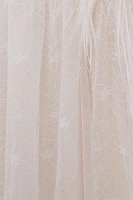 Elegant A-Line Sleeveless Floor Length Ivory Wedding Dresses Cheap_12