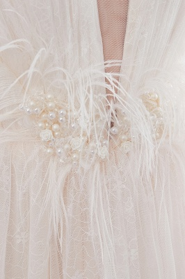 Elegant A-Line Sleeveless Floor Length Ivory Wedding Dresses Cheap_13