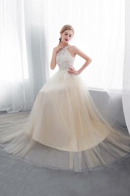 NATALIA | A-line Halter Floor Length Appliqued Tulle Evening Dresses_5
