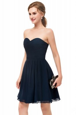 NELLY   A-line Strapless Short Black Chiffon Homecoming Dresses_4