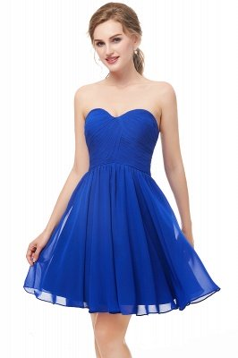 NETTIE | Aline Short Sweetheart Strapless Chiffon Blue Homecoming Dresses_5