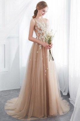 NANNIE | Aline Floor Length Sleeveless Appliqued Tulle Evening Dresses_8