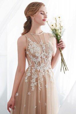 NANNIE | Aline Floor Length Sleeveless Appliqued Tulle Evening Dresses_11