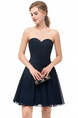 NELLY   A-line Strapless Short Black Chiffon Homecoming Dresses_6