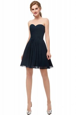 NELLY | A-line Strapless Short Black Chiffon Homecoming Dresses_1