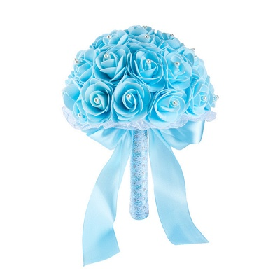 Colorido Rose rebordear Bouquet para la boda_11