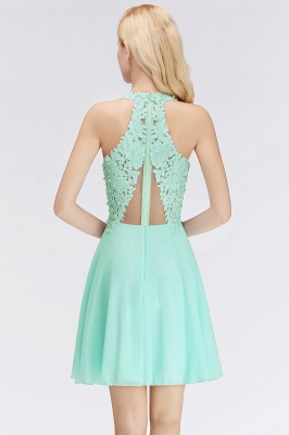 NONA | A-line V-neck Sleeveless Short Appliques Chiffon Homecoming Dresses_11