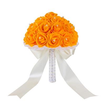 Colorido Rose rebordear Bouquet para la boda_7